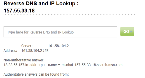 Reverse DNS and IP Lookup