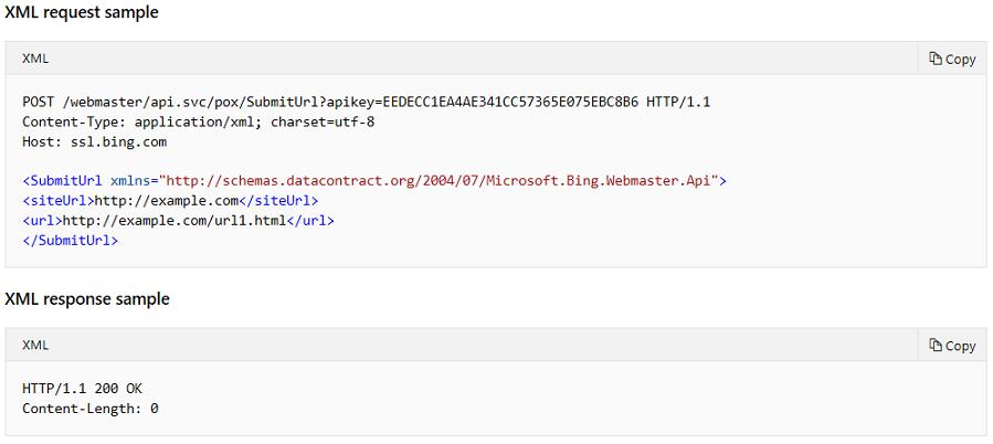 Submit URLs to Bing - Bing Webmaster Tools